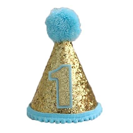 Hornet Park Cappello di compleanno per bambini. Cappello blu  Amazon.it  Giochi  e giocattoli 523aa23ee6f3