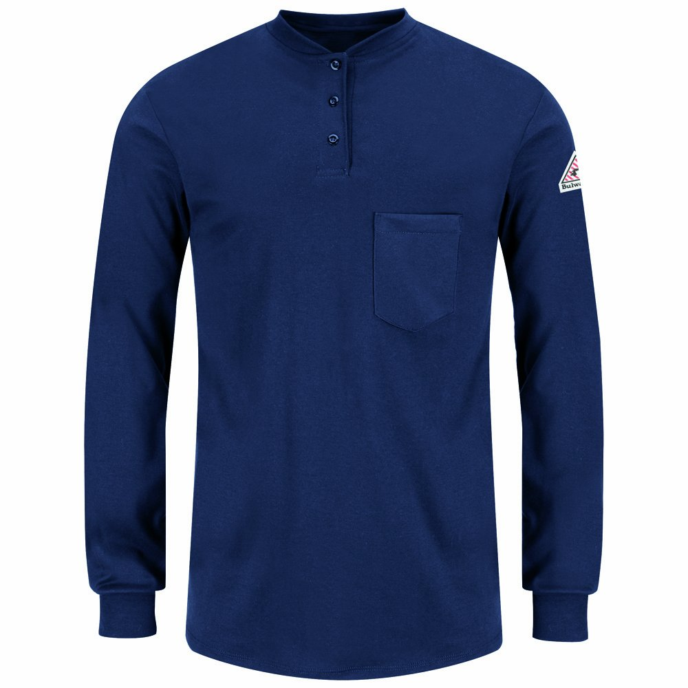 Bulwark Women's Flame Resistant Long Sleeve Tagless Shirt SEL3NV RG L-P