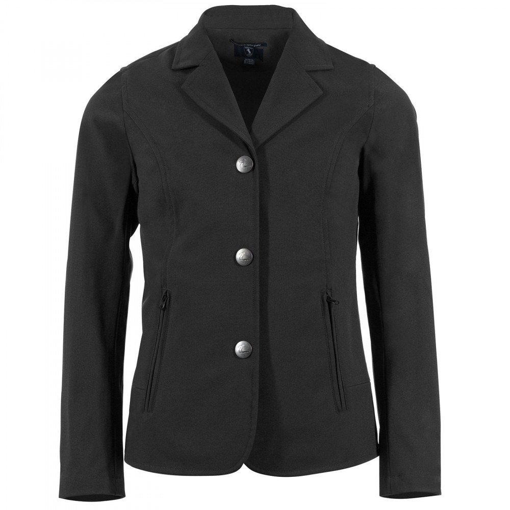 Horze Adele Jr。子供の夏Breathe Show Coat with 3つボタンフロント B079YV32PF  ブラック Large