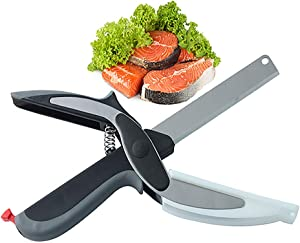 Smart Cutter Clever Food Cutter with Cutting Board Built-in-Use for Picnic, Camping and Kitchen