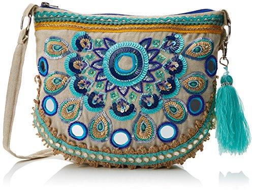 LOLA CASADEMUNT Lome, Bolso de Mano para Mujer, 1x24.00x29.00 cm (W x H x L) Azul (Azul)