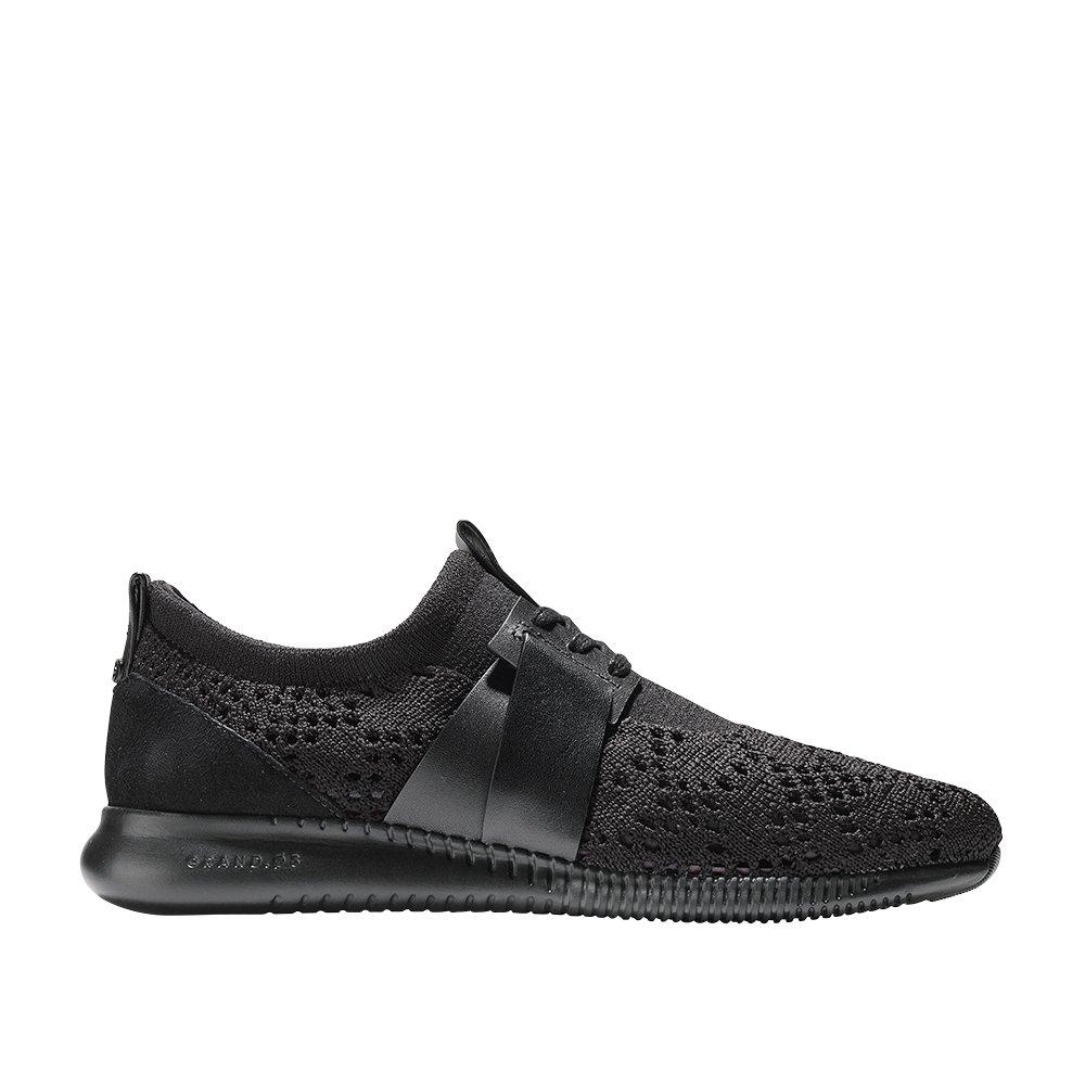 Cole Haan Womens Studiogrand Knit Sneaker 8 Black-Black Knit