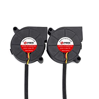 FYSETC Prusa i3 MK3 Cooling Fan 5015 50x50x15mm 5V DC 0 35A Hotend Cooler  Blow Radiator Sleeve Bearing for 3D Printer Parts Accessories, 2Pcs