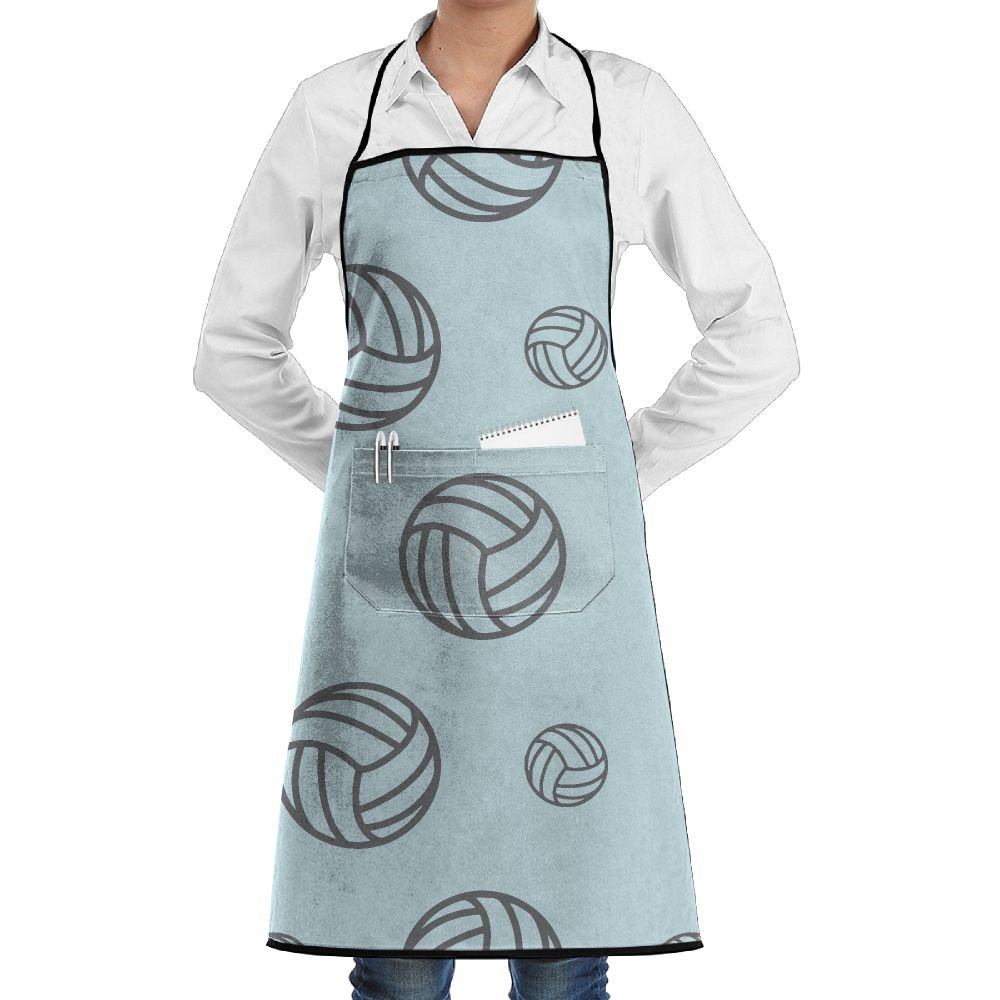 Novelty Volleyball Racing Game Kitchen Chef Apron With Big Pockets - Chef Apron For Cooking,Baking,Crafting,Gardening And BBQ