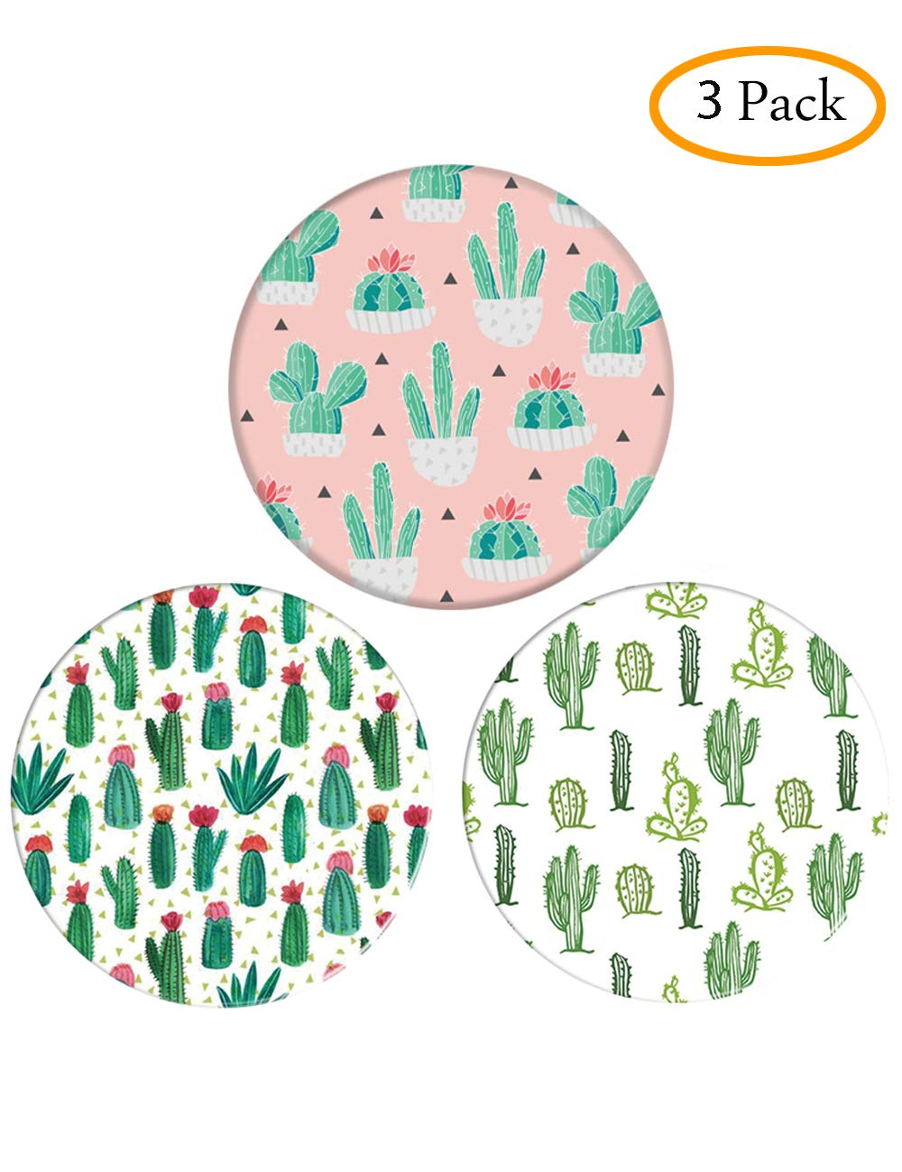 Premium Expanding Phone Stand, Ring Grip Holder for Cellphone Pack of 3 (3-Cacti) Yiqu Technology Limited