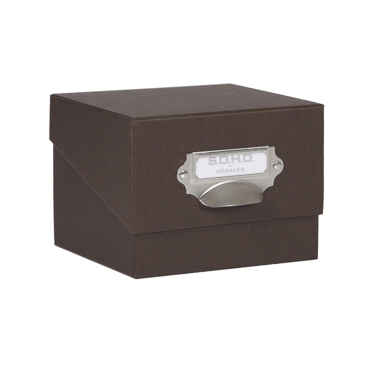 Rössler 1325452700 - Caja de cartón para fotografías, color negro