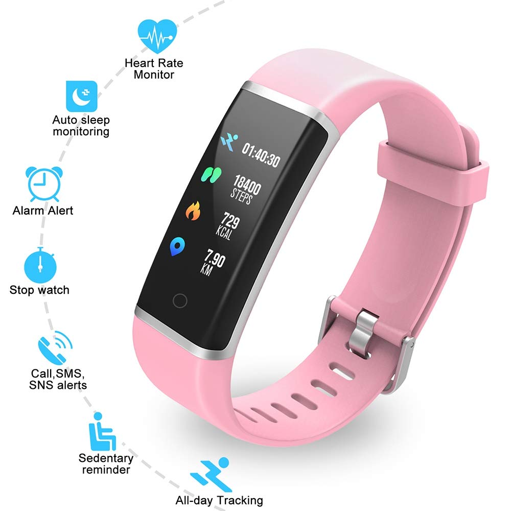 YoYoFit Light Kid Fitness Tracker HR, Heart Rate Monitor Watch with Pedometer Step Counter, Waterproof Smart Fitness Watch for Kids Women Men by YoYoFit (Image #3)