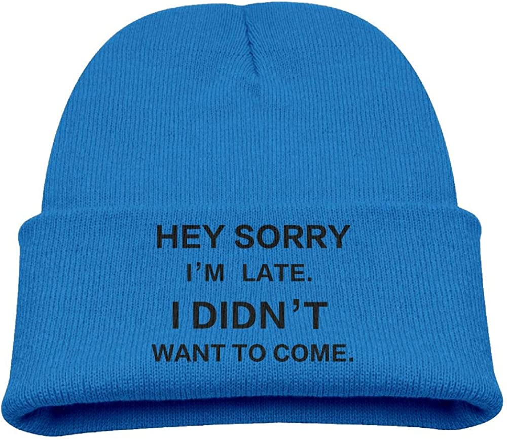 Banana King Hey Sorry Im Late Baby Beanie Hat Toddler Knit Cap