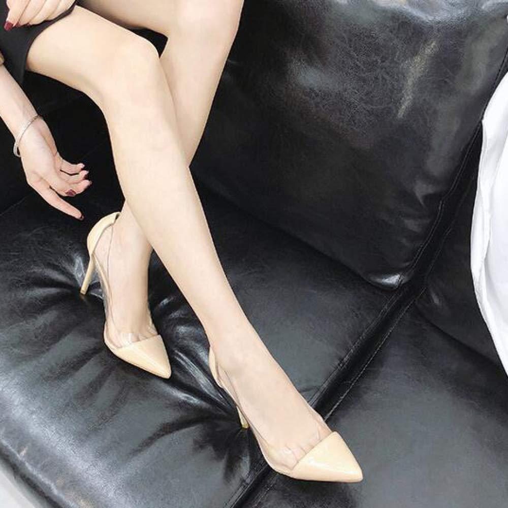 a8802d51dc Señoras Tacones Altos De Las Sandalias De Estilete Transparentes Zapatos De Tacón  Punta Estrecha Bombas Superficiales Señoras De Boda Atractivo De Trabajo   ...