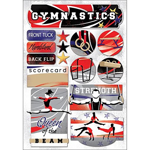 (KAREN FOSTER 11590 Design Acid and Lignin Free Scrapbooking Sticker Sheet, I Love Gymnastics )