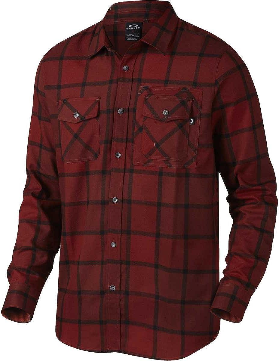 Camisa De Manga Larga Oakley Adobe Fired Brick (S, Rojo): Amazon.es: Ropa y accesorios