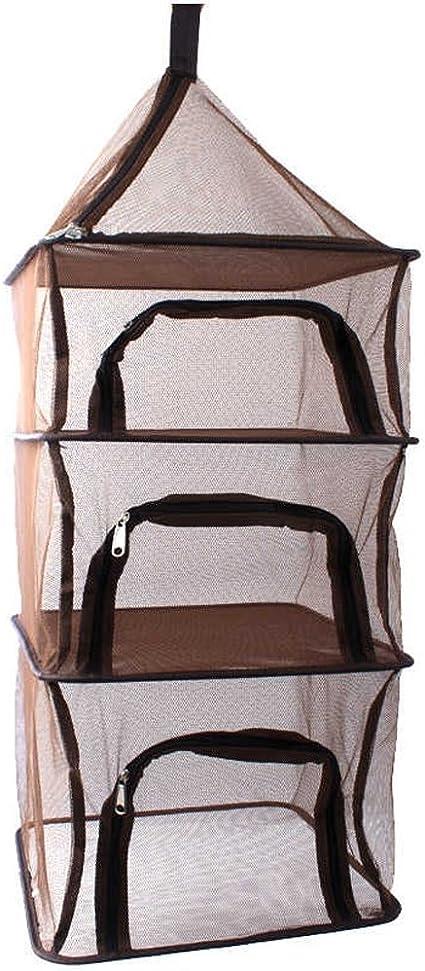 4 capas cortavientos plegable para colgar secador de malla ...