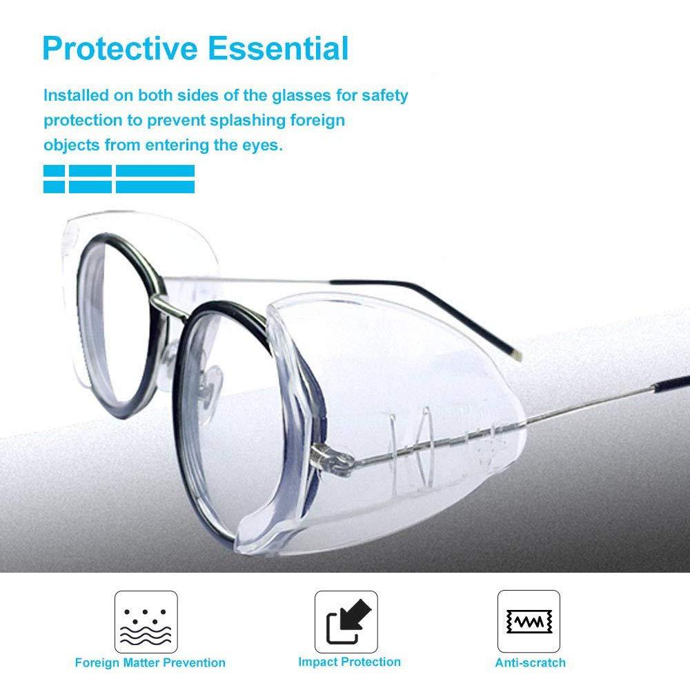 Flessibili Protezioni Laterali per Occhiali 6 Paia Trasparenti Occhiali Di Sicurezza Laterali Protezione Laterale per Occhiali per Occhiali di Sicurezza Da Piccoli a Medi