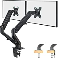 HEYMIX Dual Monitor Arm, Adjustable Computer Monitor Stand, Gas Spring Swivel Monitor Arm VESA Mount with 2-Grommet…