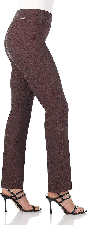 Rekucci Pantalon Ultra Confort pour Femme Facile /à Porter avec Effet Gainant Coupe Droite