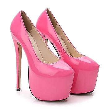 Gheel Zapatos de tacón Alto de Mujer Plataforma de Bombas Sexy Tacones de  Aguja Muy Alto 1688d88f54db