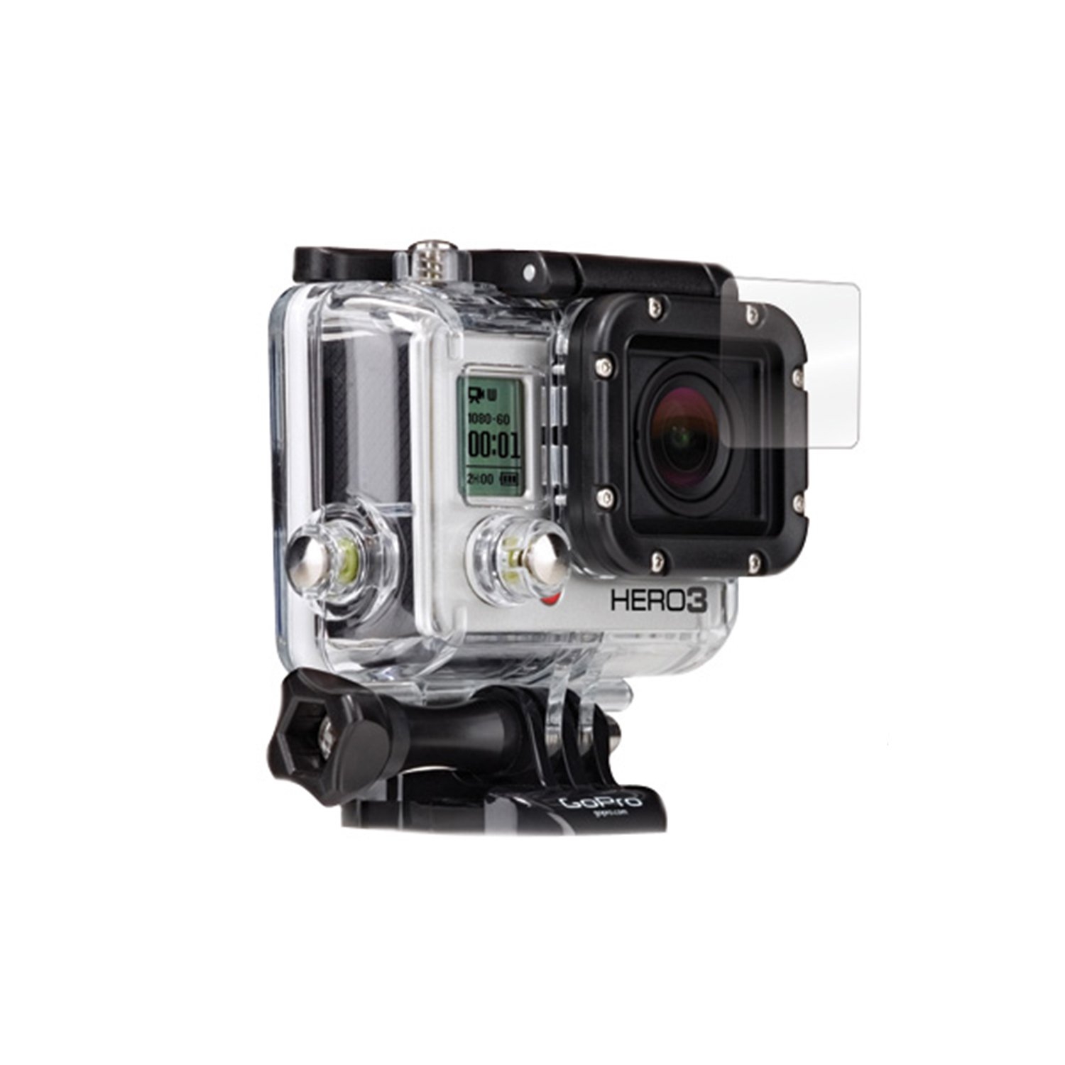 BodyGuardz BZ-UGP3-0513F UltraTough Optically Clear Screen Protector with Anti-Microbial for GoPro Hero3 Housing Lens, Gel/Dry Apply (Clear) by BodyGuardz