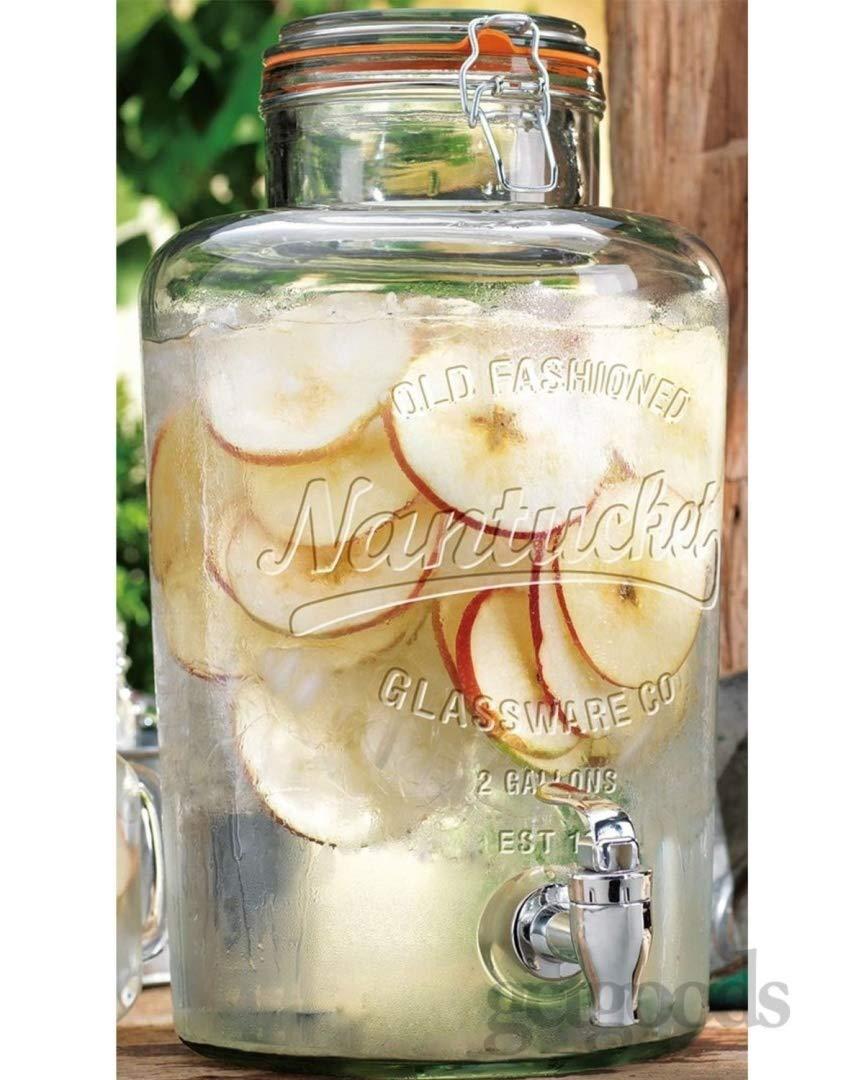modello: Nantucket Kilner rubinetto integrato 2 pz con tappo a chiusura ermetica perfetta come dispenser per bevande Grande giara da 8 L