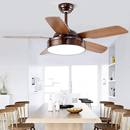 Ceiling Fan With Remote Fan Light 3 Kinds Of Speed 52 Inch Led Ceiling Fan With Lights Wooden Leaf Simple Ceiling Fan Special Buy Lights & Lighting Ceiling Fans