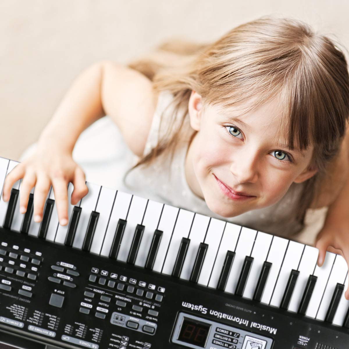 Digital Music Piano Keyboard 61 Key - Portable Electronic Musical Instrument with Microphone Kids Piano Musical Teaching Keyboard Toy For Birthday Christmas Festival Gift by Tencoz (Image #5)