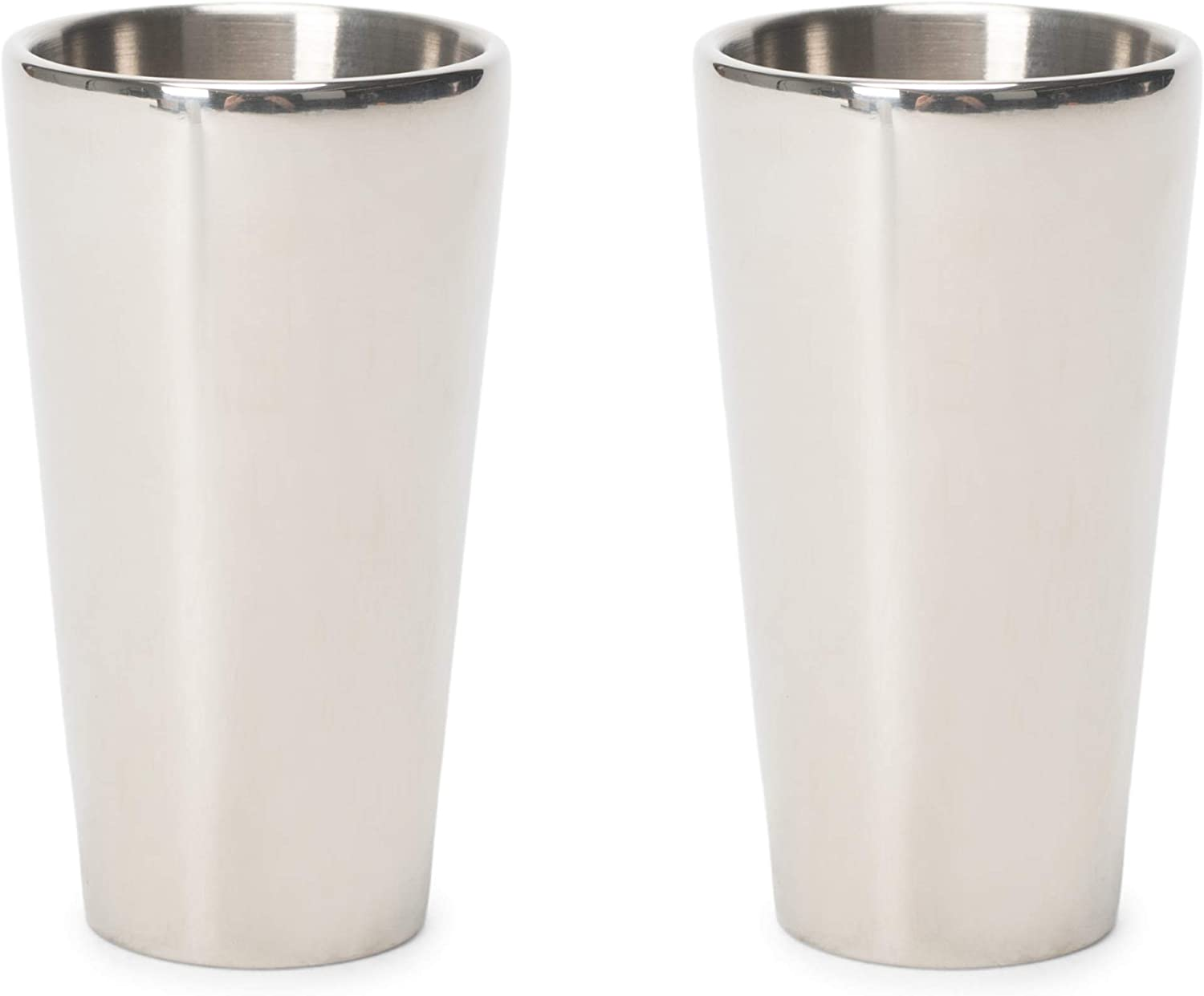 Cork Pops Arctic Chill Silver Freezer Gel Shot Glass Set of 2