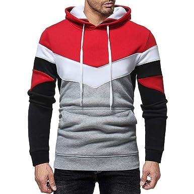 Cooljun Hoodie Herren, Männer Basic Pullover Sweatshirt
