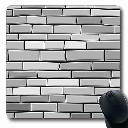 Amazon Com Ahawoso Mousepads Drawing Rock Brick Wall Made Grey