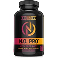 Nitric Oxide Supplement with L Arginine, Citrulline Malate, AAKG and Beet Root - Powerful N.O. Booster and Muscle Builder for Strength, Blood Flow and Endurance - 120 Veggie Capsules.