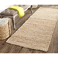 Safavieh Natural Fiber Collection NF459A Hand Woven Natural Jute Runner (26 x 12)