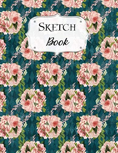 Sketch Book: Flower | Sketchbook | Scetchpad for Drawing or Doodling | Notebook Pad for Creative Artists | Blue Pink Pattern