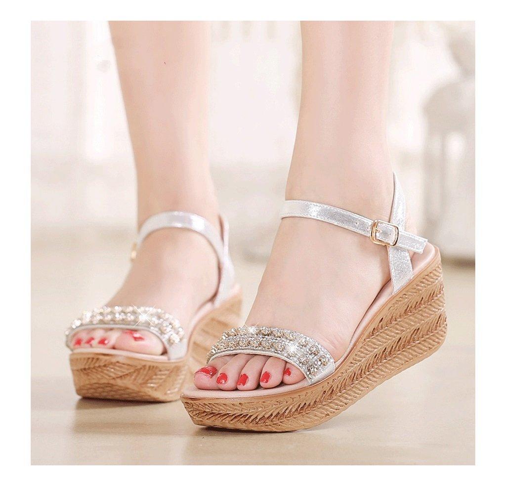 Zapatillas de tacón de estilo Bohemio ( Color : : : La Plata , Tamaño : 36 ) 8ad591