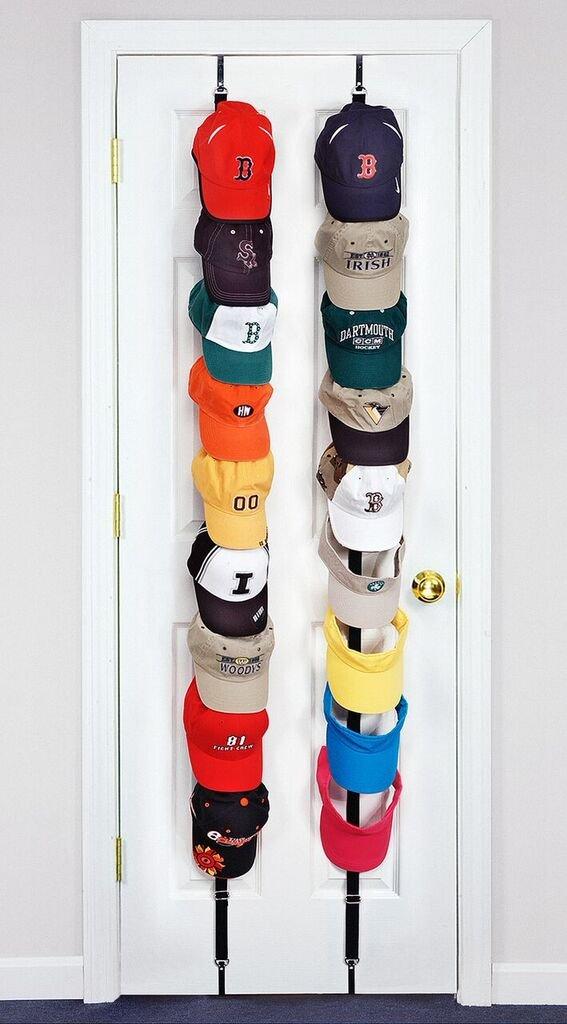wall mounted hat racks for baseball caps cap holder black rack