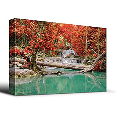 Stream and Waterfall in Exotic Location - Canvas Art Home Art - 12x18 inches