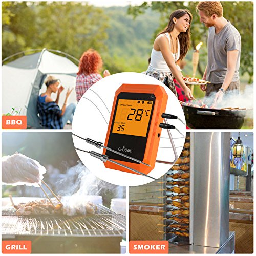 BBQ Meat Thermometer, Bluetooth Remote Thermometer, Wireless Digital Cooking Thermometer with 6 Probe Port for Smoker Grilling Oven Kitchen, iPhone & Android Phone Supported By Uvistare by uvistare (Image #7)