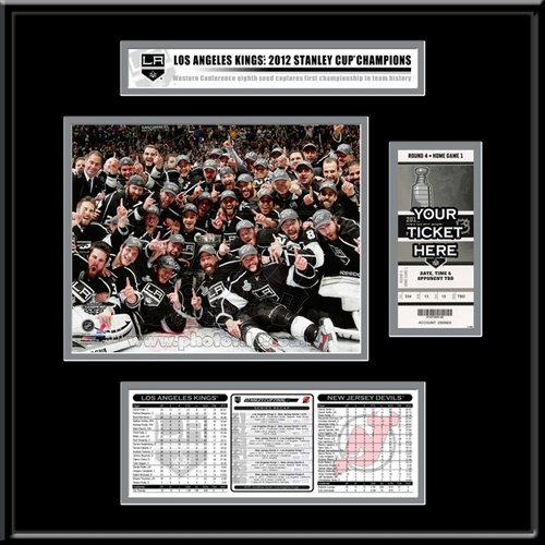 NHL Los Angeles Kings Los Angeles Kings 2012 Stanley Cup Ticket Frame Jr. ? Team Celebration