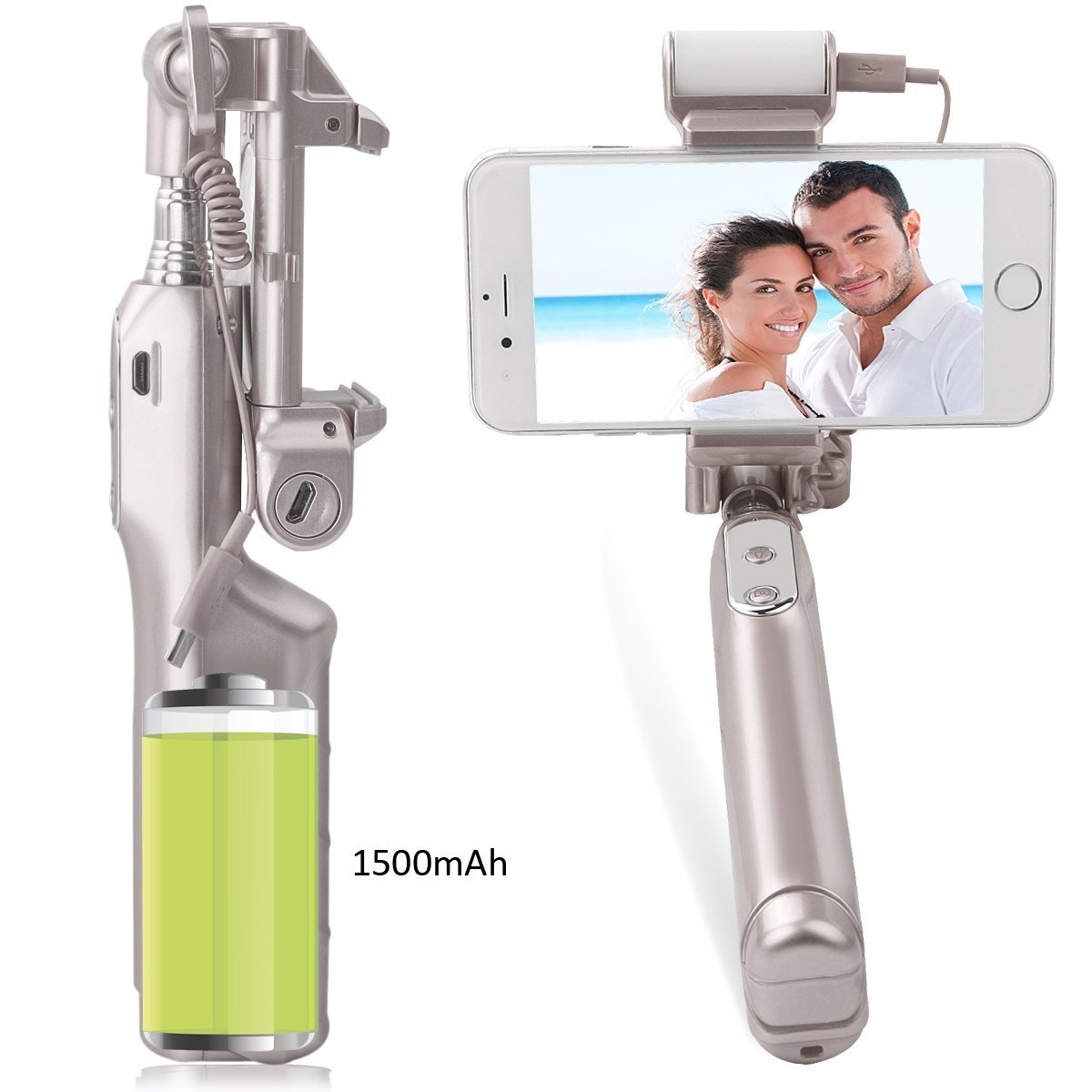 Mocreo Selfie Stick Bluetooth With 360 360diagram Degree Feedback Led Fill Light And Mirror For Iphones Samsung Galaxy S7 Edge S4 Android System