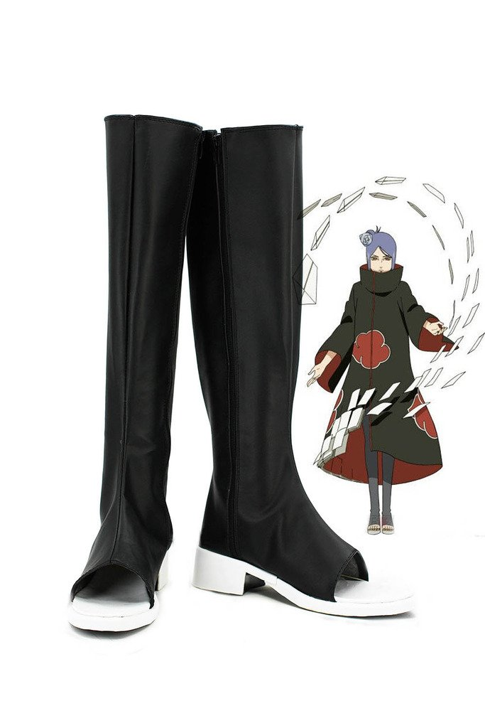 NARUTO Anime Konan Cosplay Shoes Boots Custom Made by Telacos