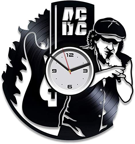 Kovides Vinyl Record Wall Clock AC DC Vinyl Clock AC DC Home Decor Art Best Gift