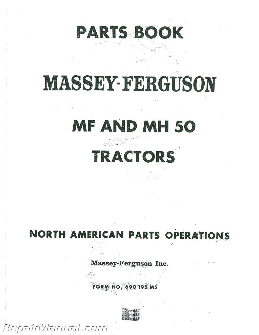 Amazon.com: Parts Manual - MH-P-MF50 Massey Harris/Ferguson Massey Ferguson  50 50 Massey Harris 50 50 (0636431147405): Manufacturer: Books