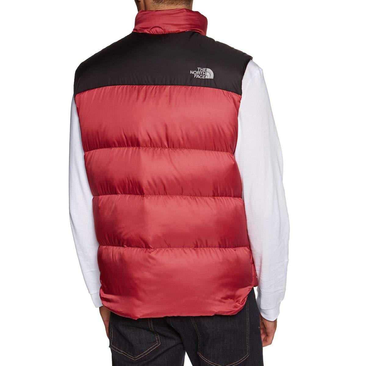The North Face Men s Nuptse III Vest - Rage Red TNF Black 450e5fa9a