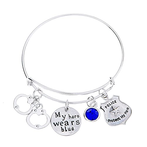 0175ff9c0 Infinity Collection Police Jewelry, Police Wife Bracelet - Makes for Wife,  Girlfriend, Mom