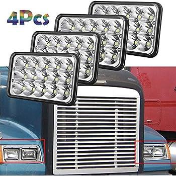 Amazon com: LED Headlight with Amber LED Turn Signal Light