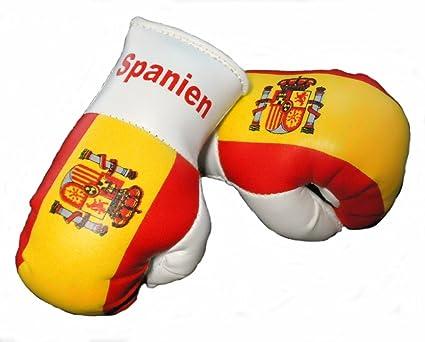 Mini Guantes de boxeo España, 1 par (2 pieza) Mini guantes de boxeo por ejemplo para Auto de espejo interior: Amazon.es: Coche y moto