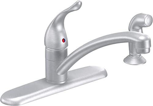 Moen 7430BC Chateau One-Handle Low Arc Kitchen Faucet, Brushed Chrome