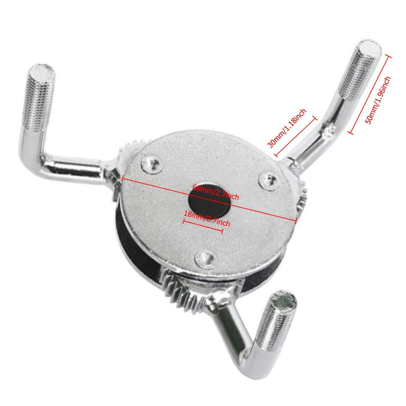 Wadoy 3 Jaw Oil Filter Wrench Round Car Removal Tool 3//8 Dr/&1//2 Adapter-Adjustable 3 Leg Claw 2 Way Oil Filter Claw Wrench