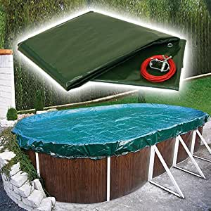 SAXONICA Pool lona PEB ovalado de/ocho Forma Platillos 460x 725cm, 160g/m²