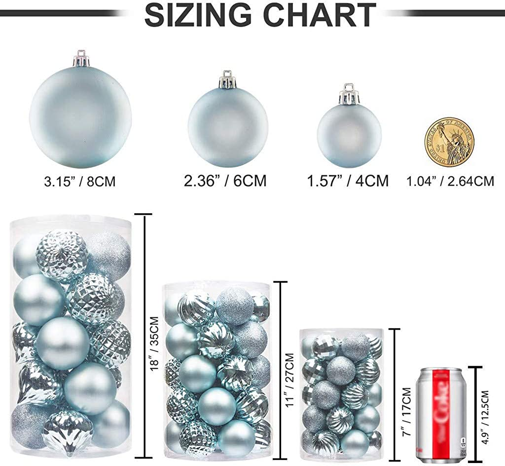 Hot Sale 24pc Shiny and Polshed Glossy Christmas Tree Ball Ornaments Decorations