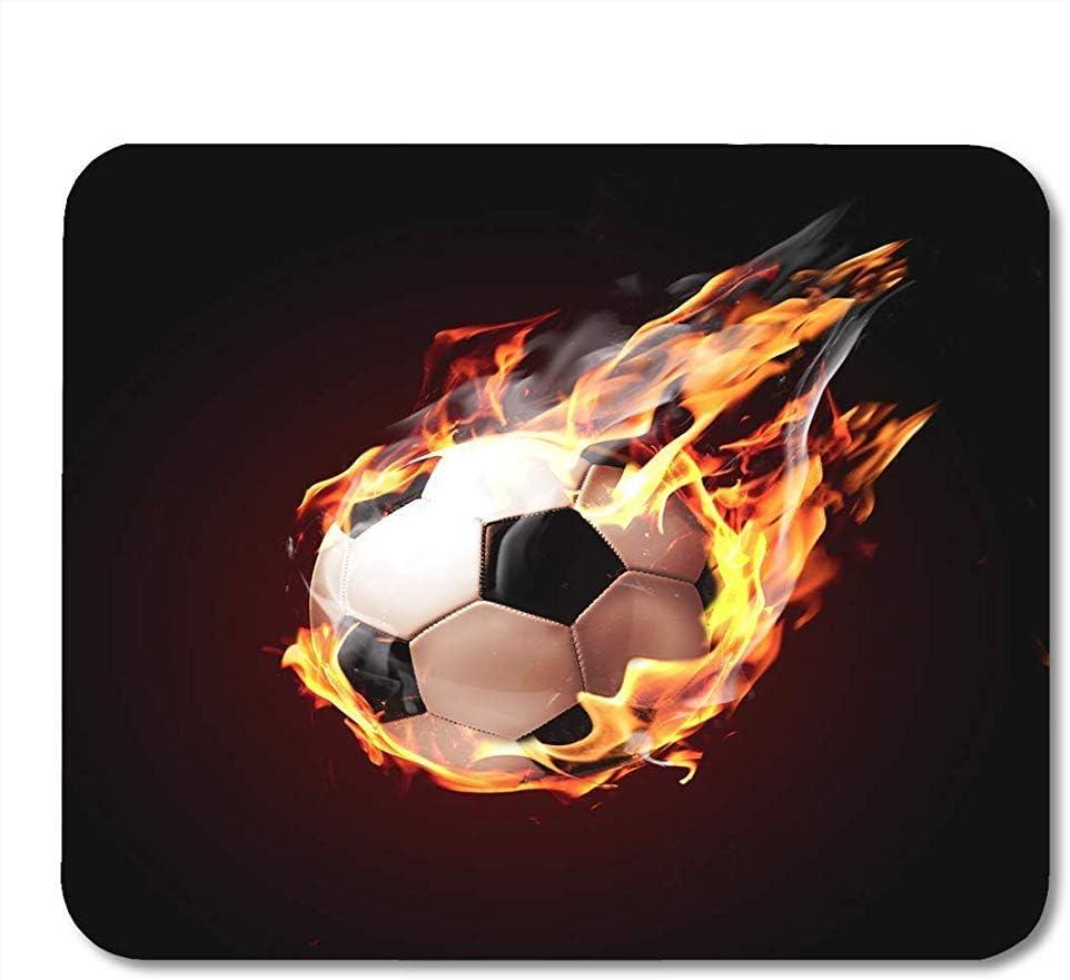 Egoa Mousepad Alfombrilla De Juego Red Heat Balón De Fútbol sobre ...