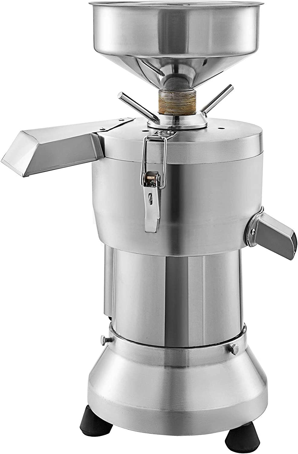 VBENLEM Commercial Soybean Milk Machine, 1500W Automatic Soymilk Making Machine with 70KG/H Yield Output, 1 Extra Strainer Bag & 2 Extra Grind Wheel Set, 2800r/min, Food Grade Stainless Steel for Household and Commercial