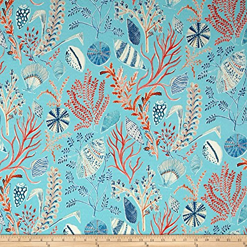 Dena Designs Indoor/Outdoor Sun Dream Reef Fabric By The Yard (Waverly Outdoor Cushions)